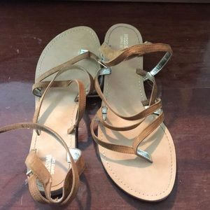 Sandals used once.